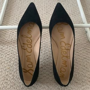 Sam Edelman Sally Pointed Toe Suede Flats 6